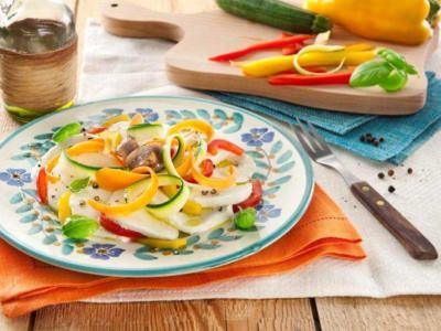 Salade Caprese aux Légumes et aux Anchois - Galbani