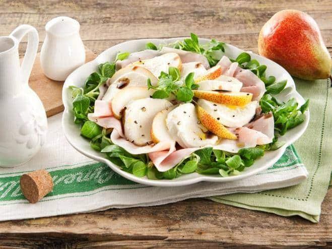 Salade Mozzarella, poires et jambon - Galbani