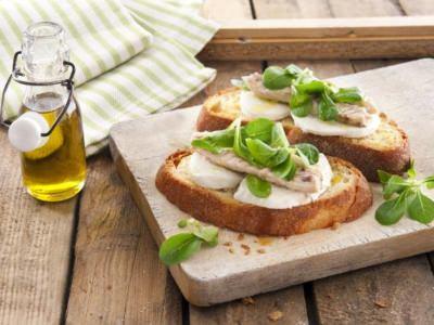 Tartine Mozzarella et maquereaux - Galbani