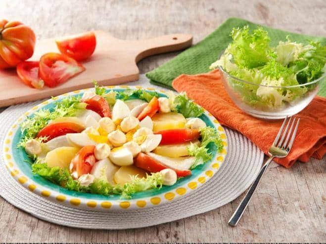 Salade Caprese aux Pommes de terre et aux Oeufs - Galbani