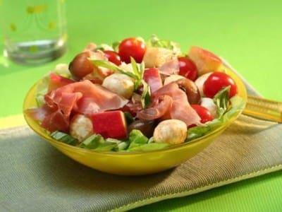 Salade de Mozzarella avec des Pommes - Galbani