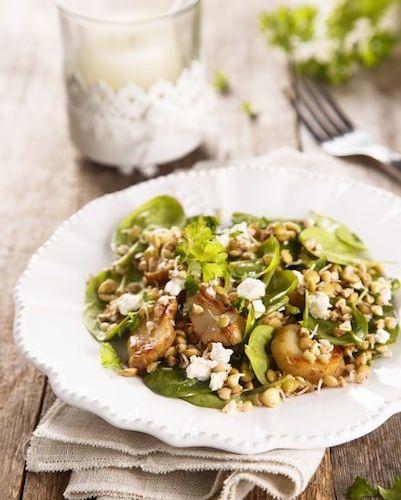 Salade d'épinards à la Mozzarella et champignons à l'huile - Galbani
