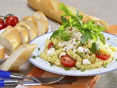 Salade de pommes de terre bouillies, œuf dur, mozzarella et truffe - Galbani