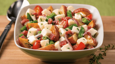 Salade de pommes de terre rôties et mozzarella - Galbani