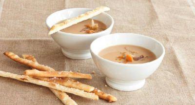 Soupe de châtaignes avec wasabi et grissini - Galbani