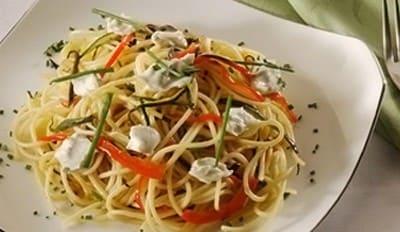 Spaghetti tièdes aux légumes - Galbani