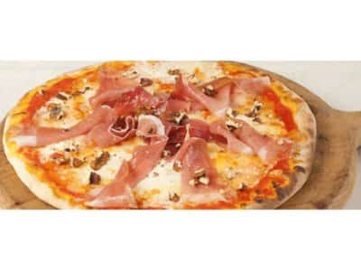 Pizza aux noix, speck et mascarpone - Galbani