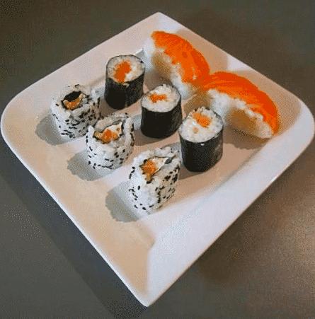 California roll et maki au basilic et sushi au citron - Galbani