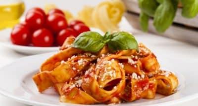 Tagliatelle menthe et tomates cerises - Galbani