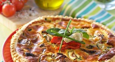 Tarte aux Légumes du Soleil et Ricotta au Basilic - Galbani