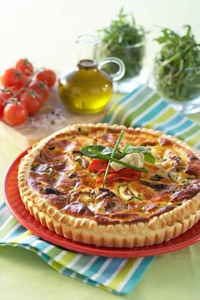 Tarte aux Légumes du Soleil et Ricotta - Galbani