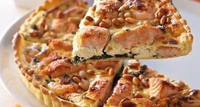 Tarte au Saumon, Crevettes et Ricotta - Galbani