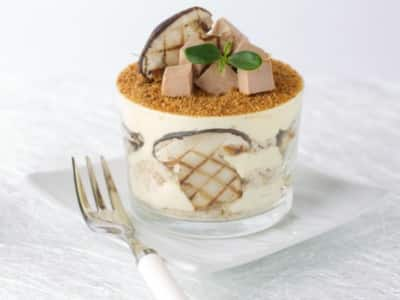 Tiramisu au foie gras et cèpes grillés - Galbani