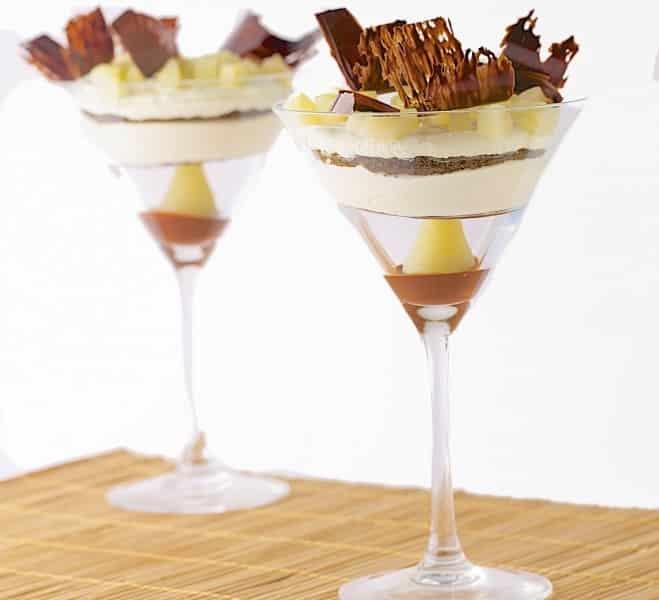 Tiramisu aux poires en suspension de chocolat - Galbani