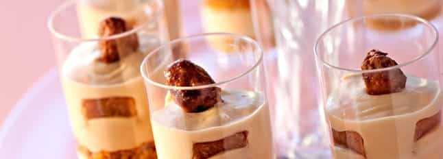 Tiramisu au caramel et amandes - Galbani