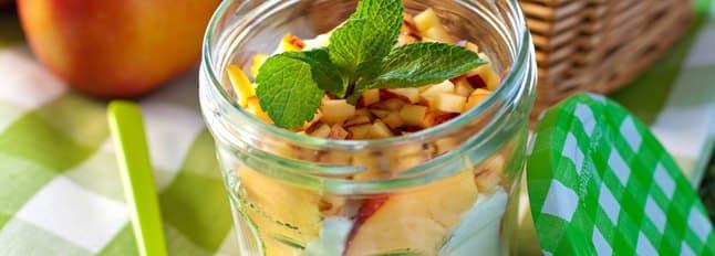 Tiramisu pêches et vanille en pot - Galbani