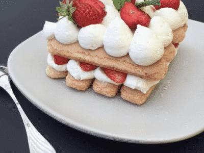 Tiramisù aux morceaux de fraises - Galbani