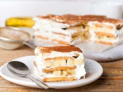 Tiramisu facile et rapide à la banane et au rhum - Galbani