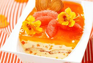 Tiramisu glacé capucine mangue pamplemousse rose - Galbani