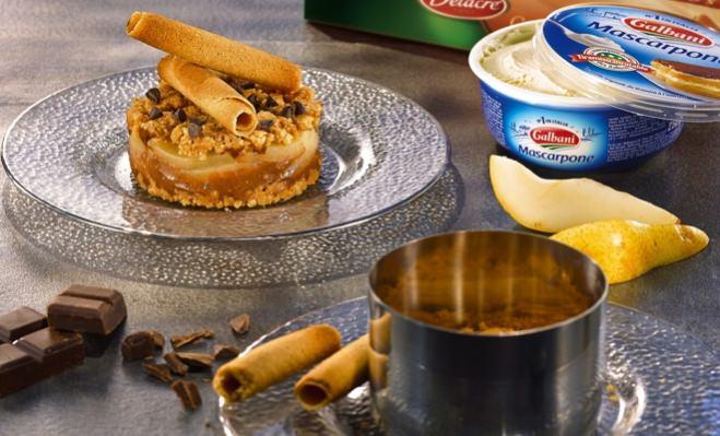 Tiramisu poire chocolat pour 4 personnes - Galbani