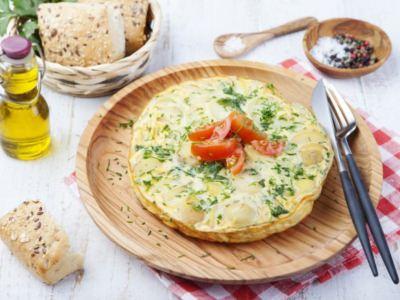 Tortilla aux Pommes de Terre avec un Cœur Fondant de Mozzarella - Galbani