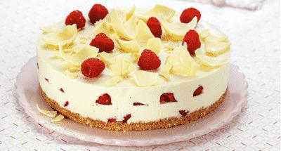 Cheesecake au Chocolat Blanc et aux Framboises - Galbani
