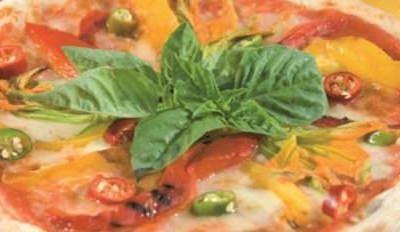 Pizza piquante aux fleurs de courge - Galbani