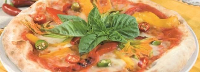 Pizza fleurs et flammes - Galbani