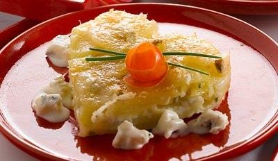 Millefeuille de pommes de terre et gorgonzola - Galbani