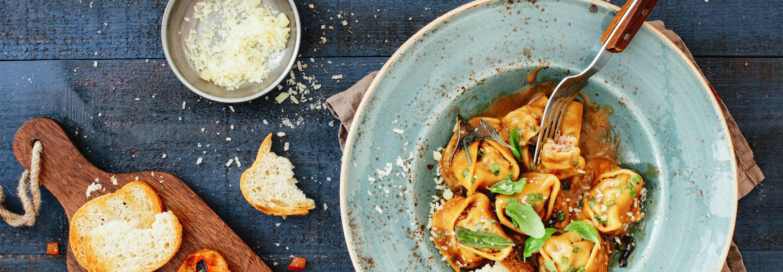 Raviolis au pesto rouge et Parmigiano reggiano - Galbani
