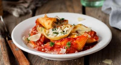 Conchiglionis farcis à la Ricotta, tomates et Pecorino Romano - Galbani