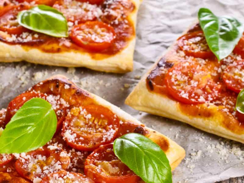 Tarte aux tomates, pesto et Pecorino Romano - Galbani
