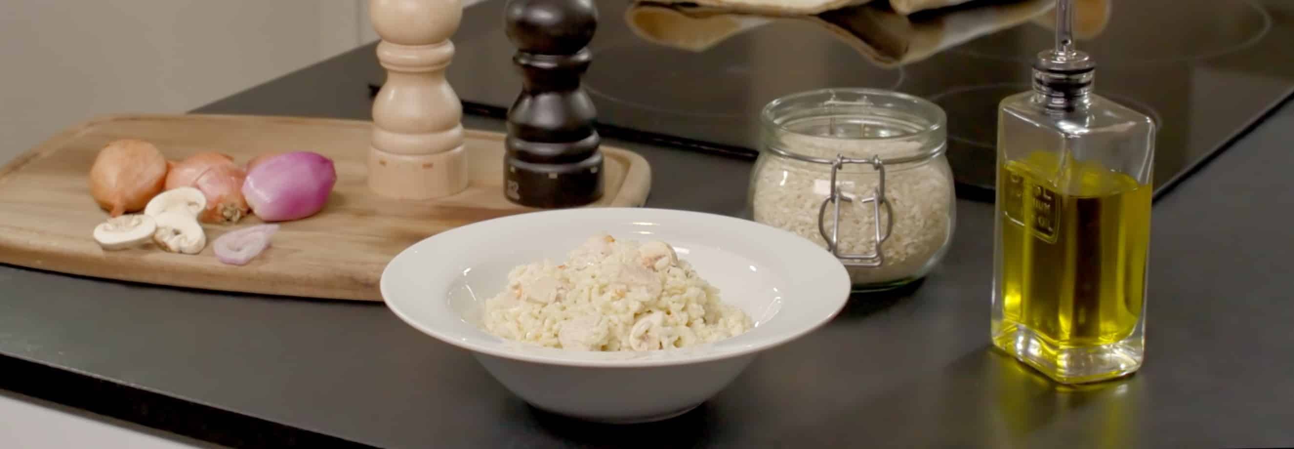 Risotto poulet et champignons - Galbani