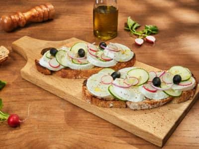 Bruschetta végétarienne - Galbani