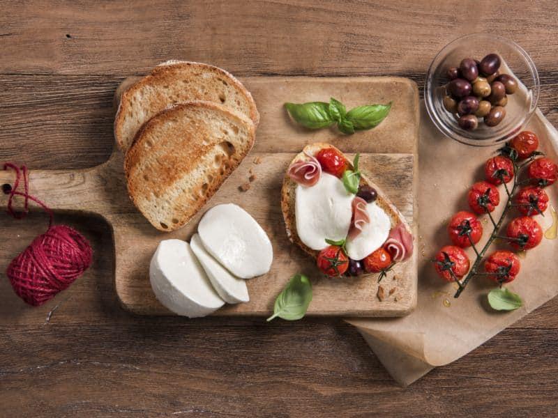 Bruschetta tomate et Mozzarella - Galbani