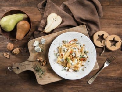 Pâtes au Gorgonzola, noix et poires - Galbani
