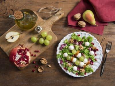 Salade composée à la Mozzarella et aux fruits d'hiver - Galbani