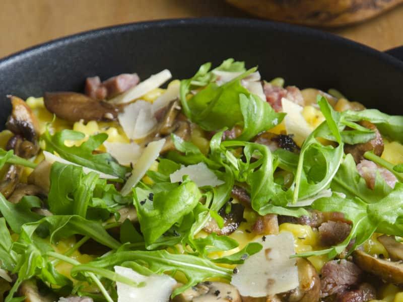 Risotto champignons et lardons - Galbani