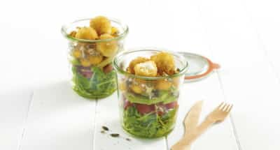 Salade de Mozzarella panée - Galbani