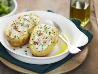 Pommes de terre en robe des champs, farcies au fromage nature Il Gusto - Galbani