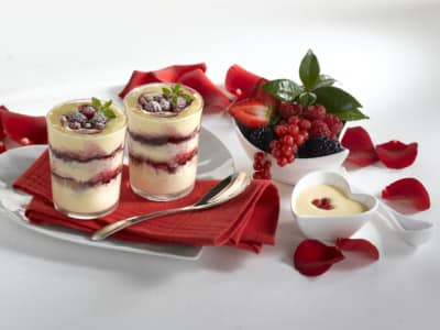 Verrines aux fruits rouges - Galbani