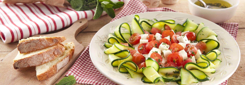 Salade Caprese aux courgettes - Galbani