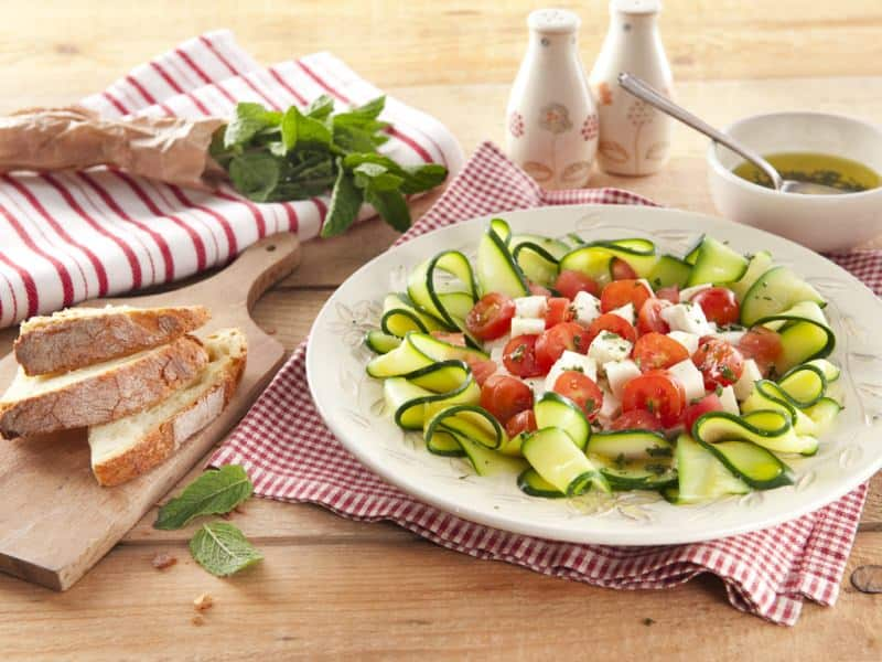 Salade Caprese aux courgettes - Galbani