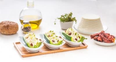 Courgettes farcies à la Ricotta, aux pistaches et tomates séchées - Galbani