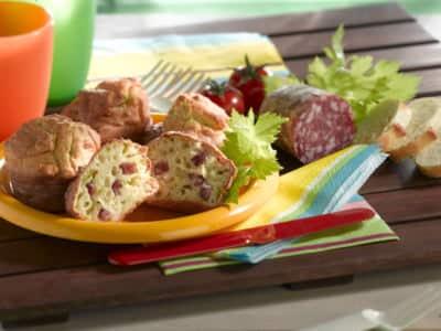 Muffins au salami et à la Ricotta - Galbani
