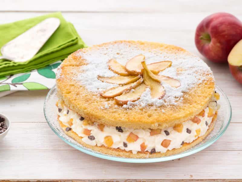 Gâteau aux pommes et à la Ricotta - Galbani