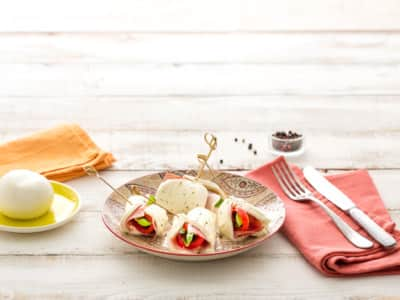 Roulés de Mozzarella au jambon - Galbani