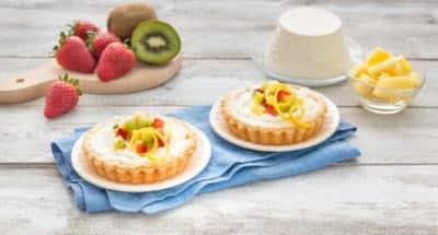 Tartelettes à la Ricotta aux fraises, ananas et kiwis - Galbani