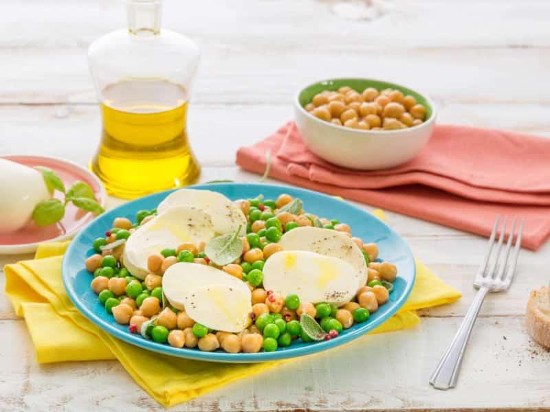 Salade Mozzarella aux petits pois et aux pois chiches - Galbani