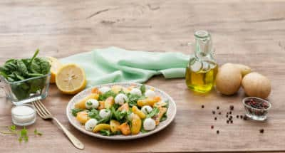 Salade Mozzarella aux épinards frais et au saumon - Galbani